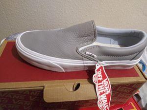 Vans leather slip ons for Sale in San Bernardino, CA