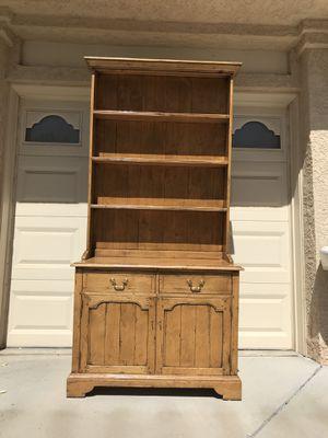Farm style hutch cabinet for Sale in Las Vegas, NV