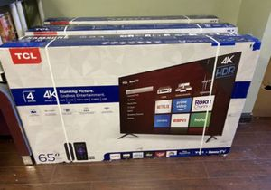 """65"""" TCL Roku Smart 4K UHD LED tv for Sale in Highland, CA"""
