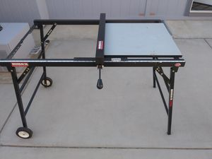 Rousseau portable table saw/work bench stand for Sale in Yuma, AZ
