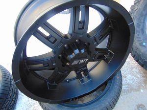 22X10 Satin Black Mickey Thompson Rims *8X6.5*Dodge*Chevy*-12MM for Sale in Aurora, CO