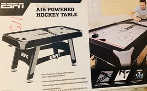 Brand New in box - ESPN 60-Inch Air Powered Hockey Table with Overhead Electronic Scorer for Sale in Canton, MI