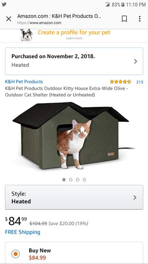 Heated cat house assembled but never used for Sale in Egg Harbor Township, NJ
