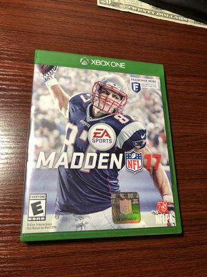 Madden 17 (Xbox One) for Sale in Jackson Township, NJ