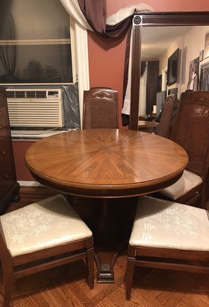 Antique table with chairs for Sale in Queens, NY