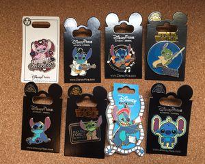 8 Disney Stitch tradable pins for Sale in Orlando, FL