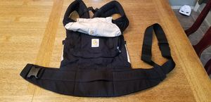 Ergo baby carrier black and tan for Sale in Yuma, AZ