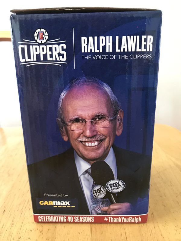 Brand new LA clippers Ralph Lawler bobble head toy collectible basketball legend