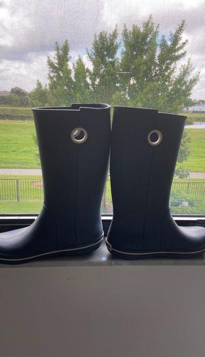 Crocs rain boots navy blue for Sale in North Miami Beach, FL