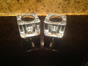2 Glass Votive Candle Holders for Sale in Miami, FL