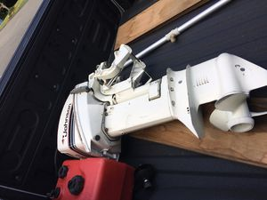 Outboard motor Jhonson 9.9 like new with manual and tank for Sale in Kent, WA