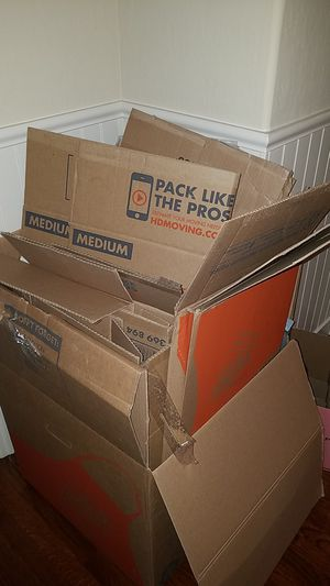 Free moving boxes must pick up for Sale in Walnut Creek, CA