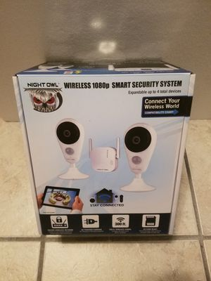 BRAND NEW Night Owl 4 Channel 1080p HD Wireless Gateway with 16GB microSD Card and 2 AC Powered Indoor Wireless Cameras for Sale in Cypress Gardens, FL