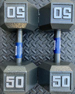 50lb dumbbells- metal dumbbells - weightlifting for Sale in Orlando, FL