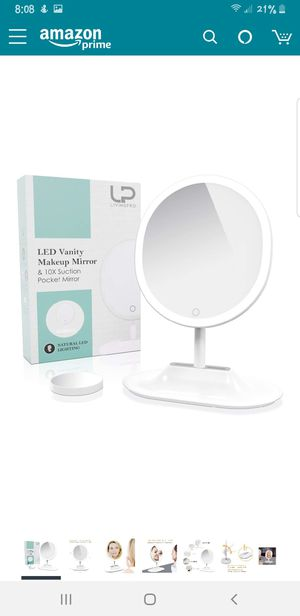 LivingPro Vanity Makeup Mirror with [Upgraded] Anti-Glare LED Lighting Controlled by Dimmable Touch Screen for Sale in Indianapolis, IN