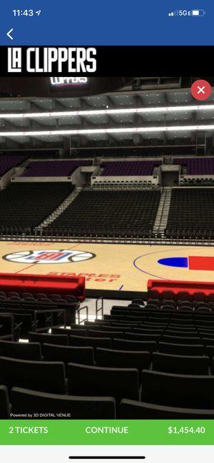 La Clippers Vs Dallas Mavericks for Sale in La Puente, CA