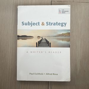 Subject & Stategy A Writer's Reader for Sale in Freehold, NJ