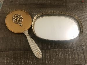 Vintage mirror and tray set for Sale in Peoria, AZ