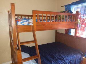 Cherry Oak Wood Bunk Bed for Sale in Phoenix, AZ