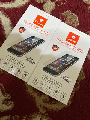 Iphone 11 pro/ iphone x tempered glass for Sale in Skokie, IL