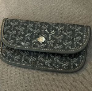 Genuine Goyard Leather Pouch / Handbag [Grey/White] - Rarely Used for Sale in Gulfport, FL