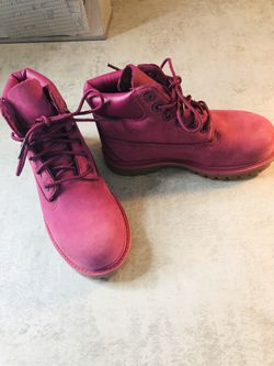 Kids size 11 Purple Timberland Boots for Sale in Pflugerville,  TX