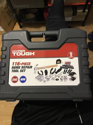 HYPERTOUGH 116 PIECE HOME REPAIR TOOL SET for Sale in Boston, MA