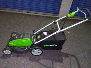 Lightweight electric lawn mower three-in-one excellent new condition reliable and ready for immediate use pick up or curbside or delivery aval. for Sale in Philadelphia, PA