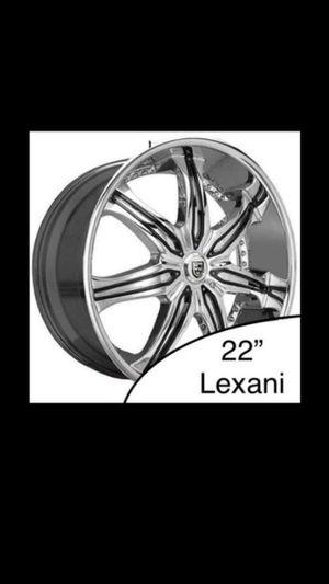 "3x Lexani 22"" LX7 Chrome w/ Inserts SUV Rims for Sale in Seattle, WA"