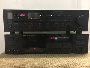 Yamaha K-640 Vintage Cassette Deck and Yamaha Yamaha RX-700U Stereo Receiver for Sale in Portland, OR