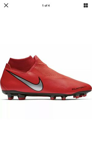 Nike Phantom Vision Academy FG Crimson Red Mens Soccer-Dynamic Fit Size 5.5 for Sale in Elk Grove, CA