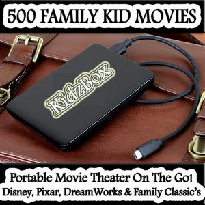 500 Family Kids Movies * Portable External Hard Drive * 500 Family Kid Movies * Portable External Hard Drive for Sale in Fullerton, CA