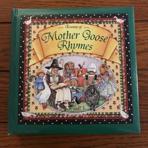 Treasury of Mother Goose Rhymes With Golden Edge Vintage 1996 Hardcover Book. for Sale in La Mirada, CA