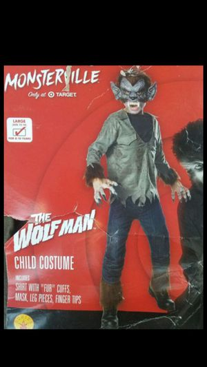 Boy's The Wolf Man Halloween Costume Size Large for Sale in Buena Park, CA