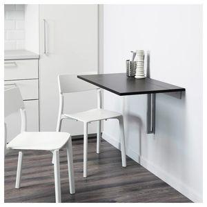IKEA BJURSTA Wall-mounted drop-leaf table, brown-black for Sale in Kirkland, WA