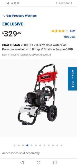 Pressure Washer, Craftsman for Sale in Dearborn Heights, MI