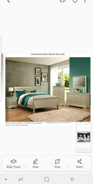 BRAND NEW TWIN FULL QUEEN BEDROOM SET INCLUDES BED FRAME DRESSER MIRROR AND NIGHTSTAND ADD MATTRESS ALL NEW FURNITURE BY USA MEXICO FURNITURE for Sale in Pomona, CA