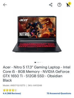 Acer Gaming Laptop for Sale in Stanton, CA
