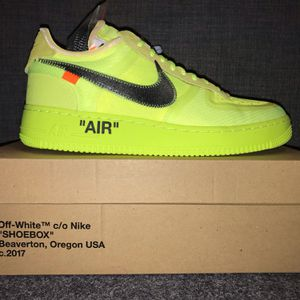 Off white Nike Air Force 1 VOLT size 9 for Sale in Philadelphia, PA