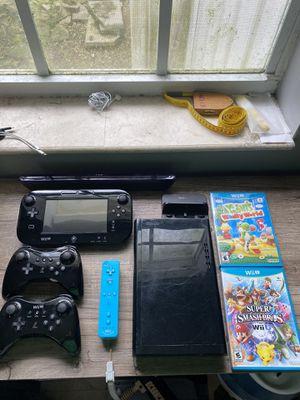 Black Nintendo Wii U with games for Sale in Miami, FL