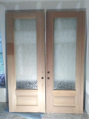 Doors Double 8ft Solid Wood New for Sale in Houston, TX