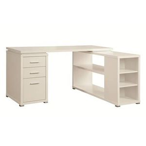 White Wood Finish L-Shaped Desk ONLY $299- SALE! for Sale in Sacramento, CA