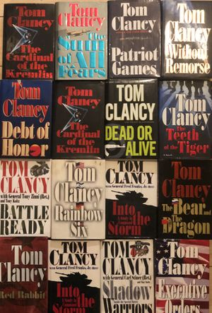 16 Tom Clancy Hard Copy/ Paper Back-Best Selling-Hard to find Books! for Sale in Huntington Beach, CA