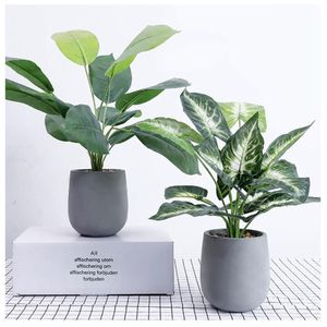Fake Plants with Gray Pot (2pcs, 2 Style) for Sale in Los Angeles, CA