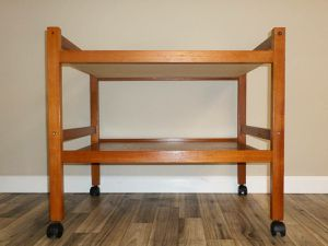 Solid Wood Teak Rolling Cart. Delivered. for Sale in Tacoma, WA