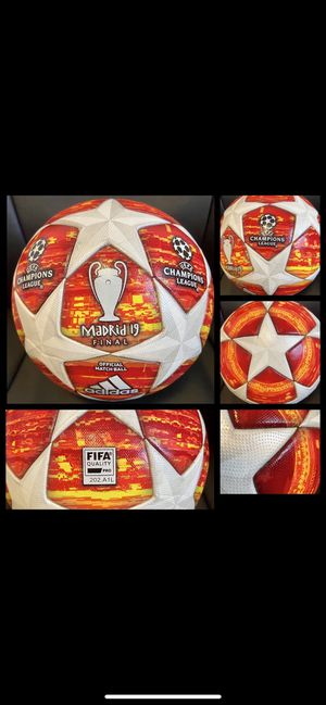 SOCCER BALL BRAND NEW MATCH BALL FIFA APPROVED CHAMPIONS LEAGUE NOT REPLICA OR TRAINING OFFICIAL SOCCER MATCH BALL SIZE 5 for Sale in VA, US
