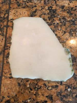 Small White Marble Slab With Gold Colored Edges-$3.00 for Sale in Phoenix, AZ