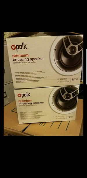 POLK IC60 PAIR OF IN CEILING SPEAKERS. NEVER OPENED $150 firm for Sale in Houston, TX