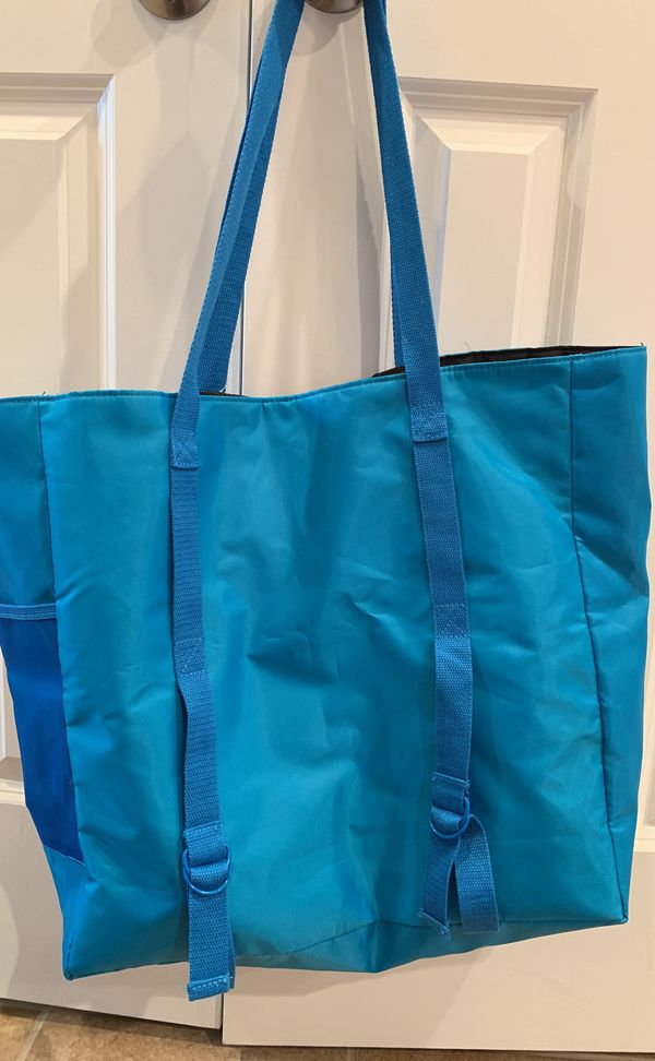 NEW with tags super roomy yoga or workout tote with straps to hold yoga mat and pocket for water bottle