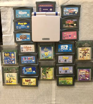 Huge Lot. Custom GameBoy SP w/21 games &Extras for Sale in Hoxeyville, MI